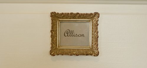 Allison room sign