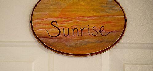 Sunrise Room Sign