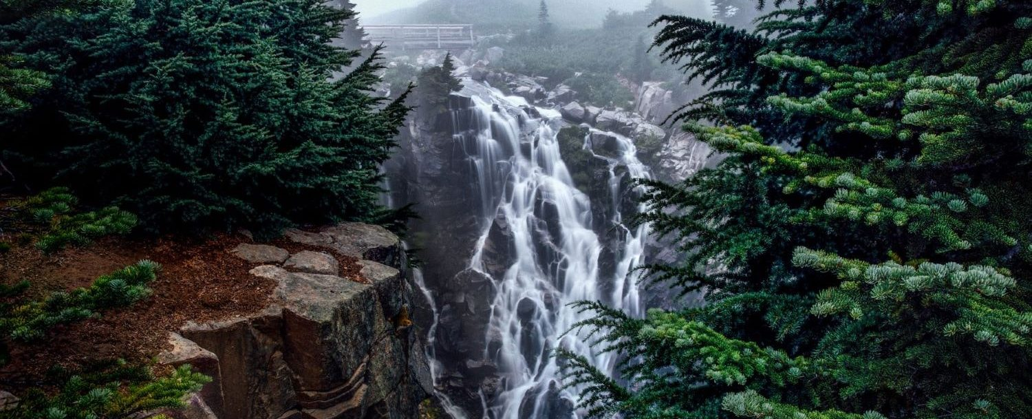 Waterfall on Mount Rainier.