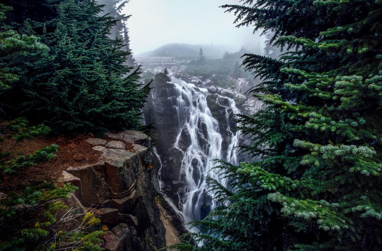 Waterfall on Mount Rainier.